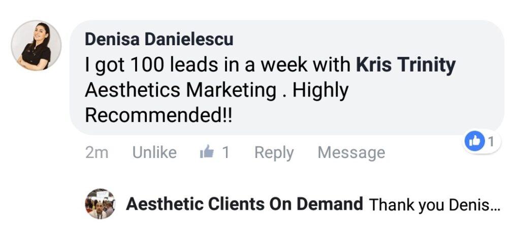 Denisa King FB Comment