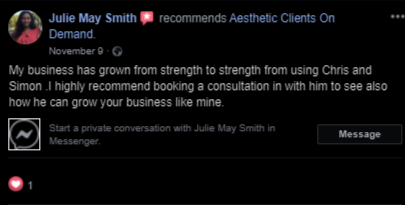 Julie May Smith Testimonial