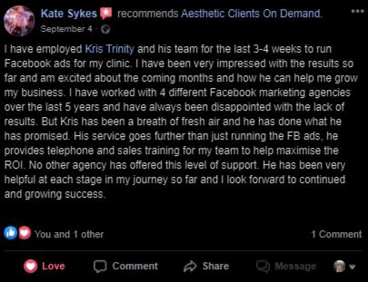 Kate Sykes Testimonial