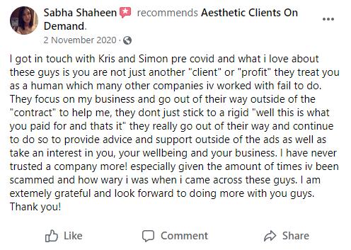 Sabha Shaheen Testimonial WV